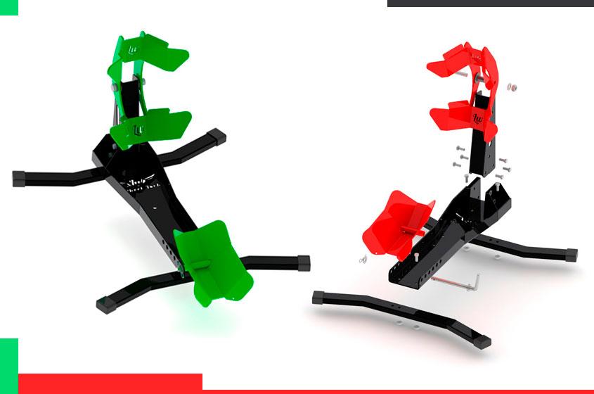 soportes para fijar la rueda de la moto